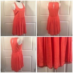 Altar'd State High Low Dress Peach Keyhole Back